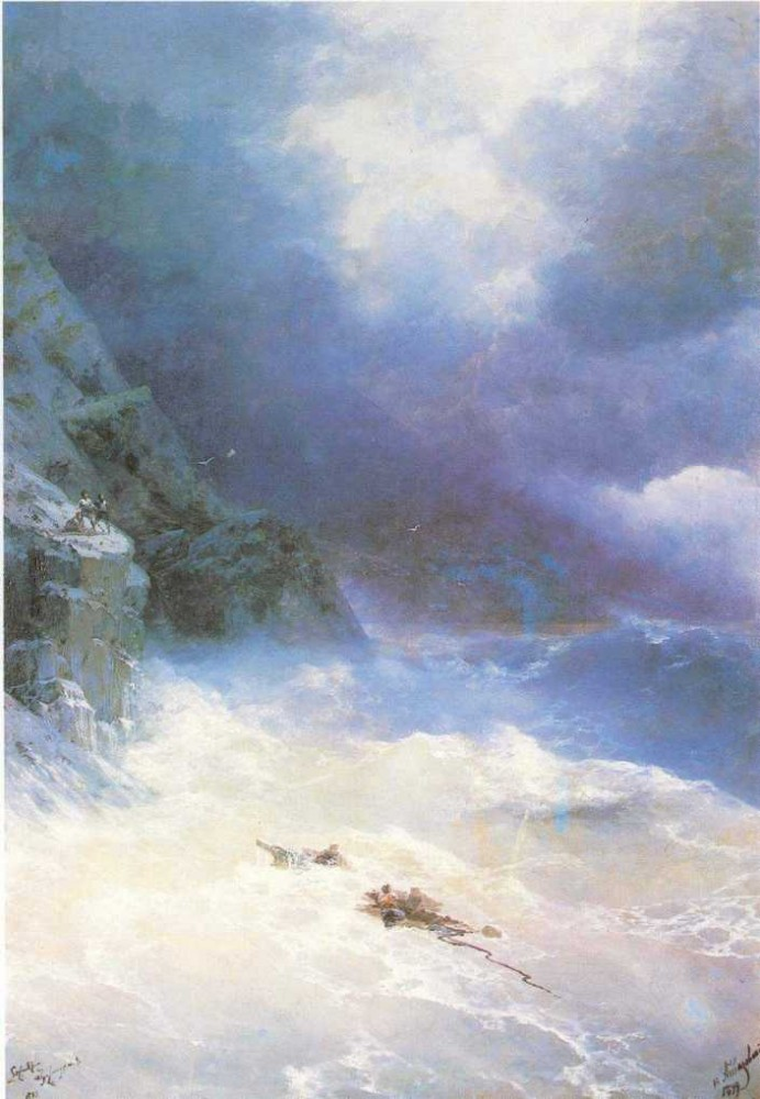 On The Storm II by Ivan Konstantinovich Aivazovsky