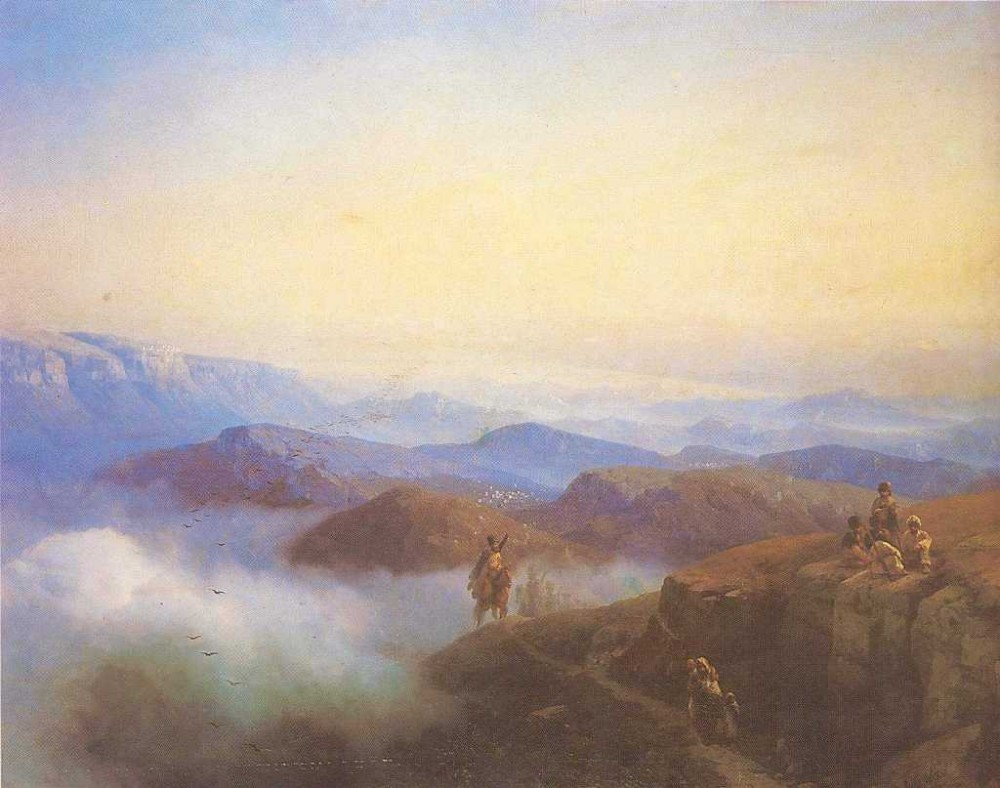 Range Of The Caucasus Mountains by Ivan Konstantinovich Aivazovsky