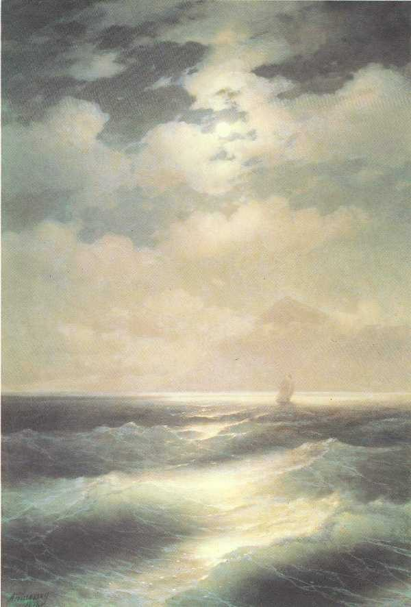 Sea View By Moonlight by Ivan Konstantinovich Aivazovsky