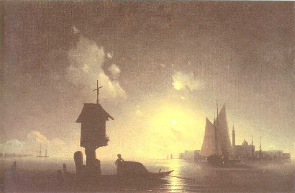 Sea View With Chapel by Ivan Konstantinovich Aivazovsky