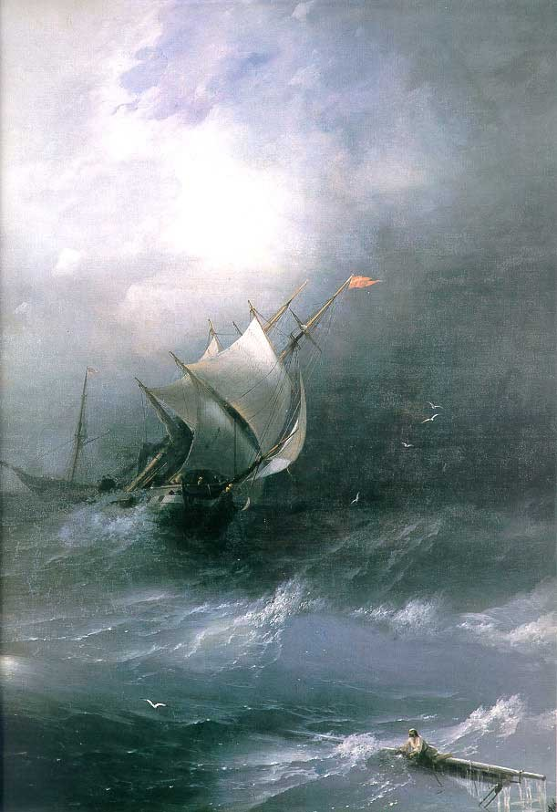 Tempest On Ice Ocean by Ivan Konstantinovich Aivazovsky