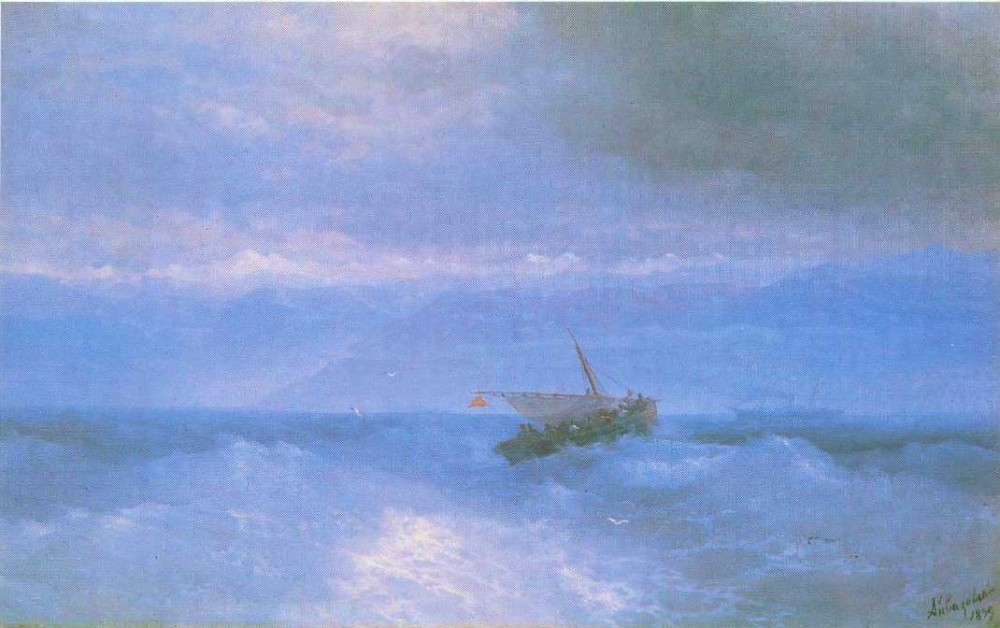 The Caucasian Range From The Sea by Ivan Konstantinovich Aivazovsky