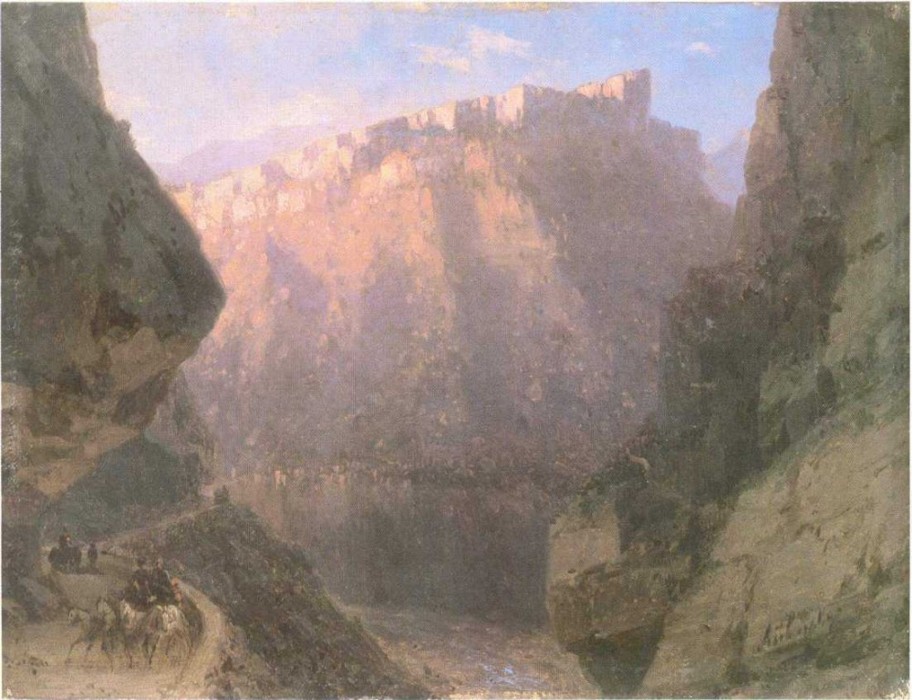 The Daryal Canyon II by Ivan Konstantinovich Aivazovsky