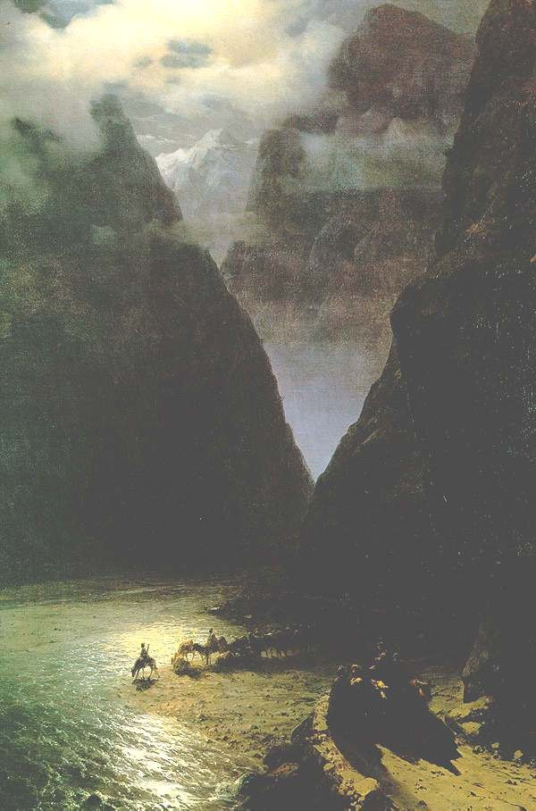 The Daryal Canyon by Ivan Konstantinovich Aivazovsky