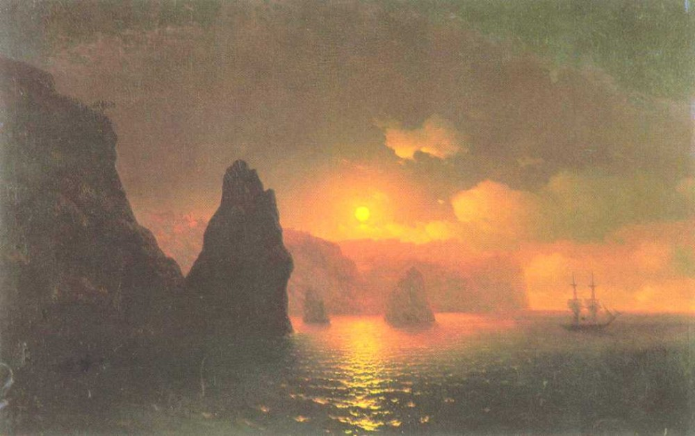 The Monastery Of George, Cape Fiolent by Ivan Konstantinovich Aivazovsky