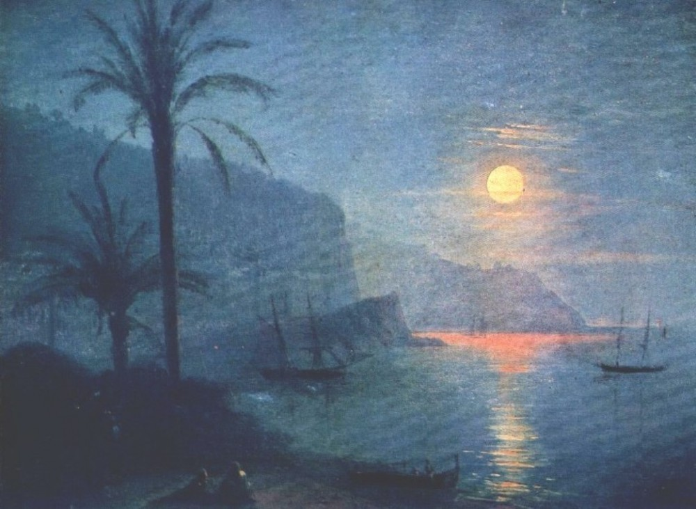 The Nice At Night by Ivan Konstantinovich Aivazovsky
