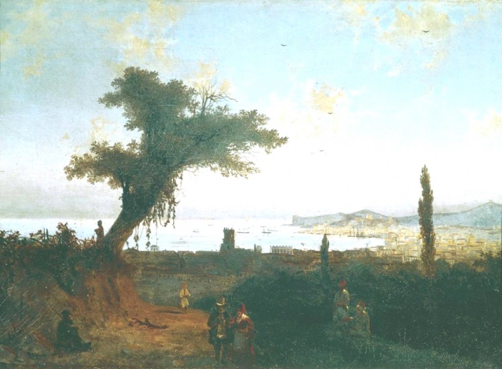 The Old Feodosia II by Ivan Konstantinovich Aivazovsky
