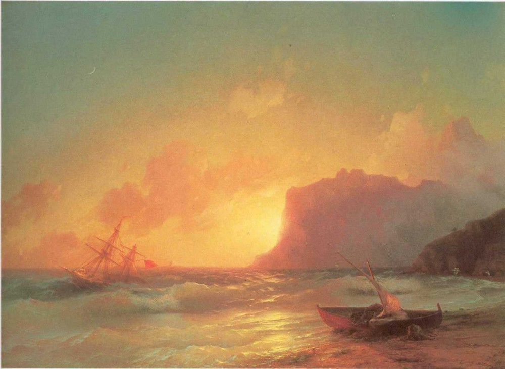 The Sea, Koktebel by Ivan Konstantinovich Aivazovsky