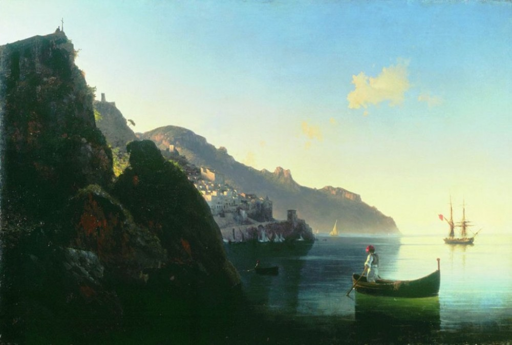The Seashore Of Amalfi by Ivan Konstantinovich Aivazovsky