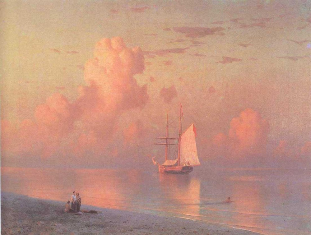 The Sunset by Ivan Konstantinovich Aivazovsky