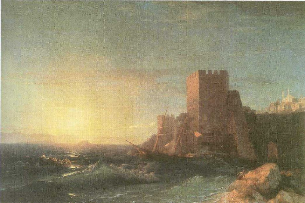 Towers On The Rock Near Bosporus by Ivan Konstantinovich Aivazovsky