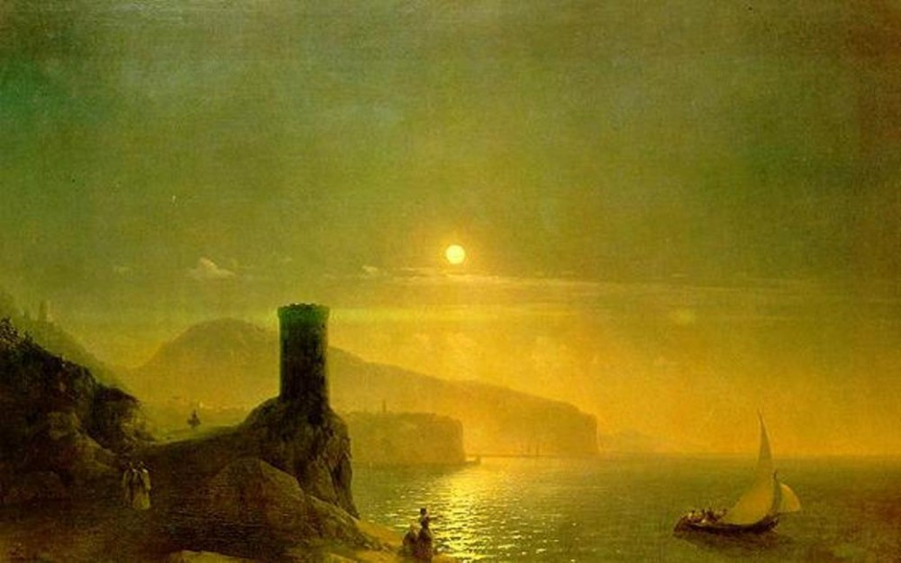 View Of Vico Near Naples by Ivan Konstantinovich Aivazovsky