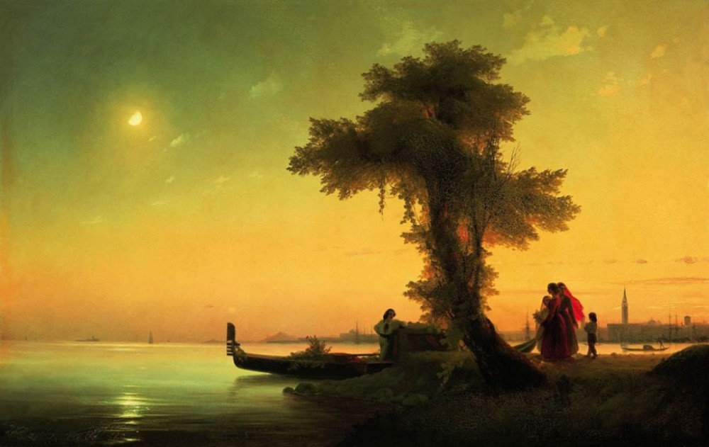 View On Lagoon Of Venice by Ivan Konstantinovich Aivazovsky
