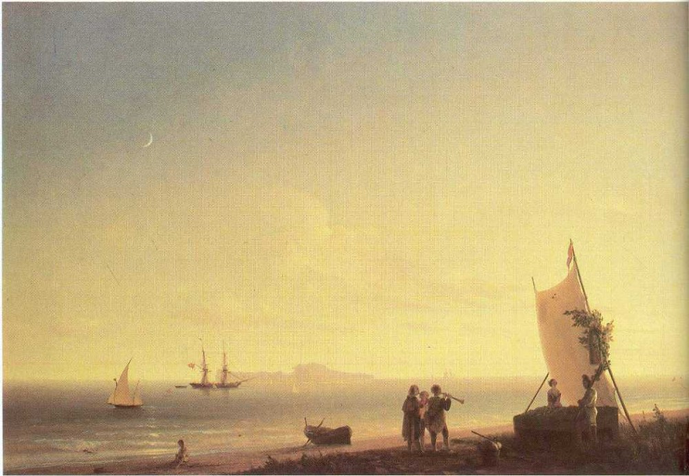 View On The Capri by Ivan Konstantinovich Aivazovsky