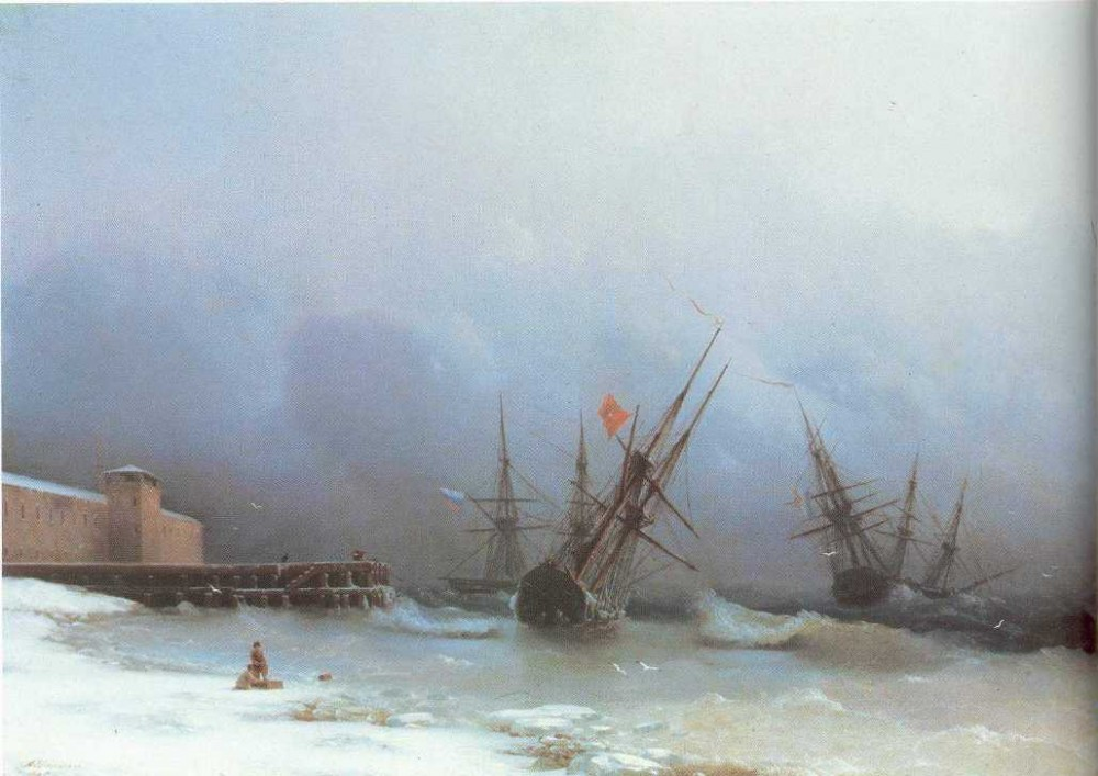 Warning Of Storm by Ivan Konstantinovich Aivazovsky