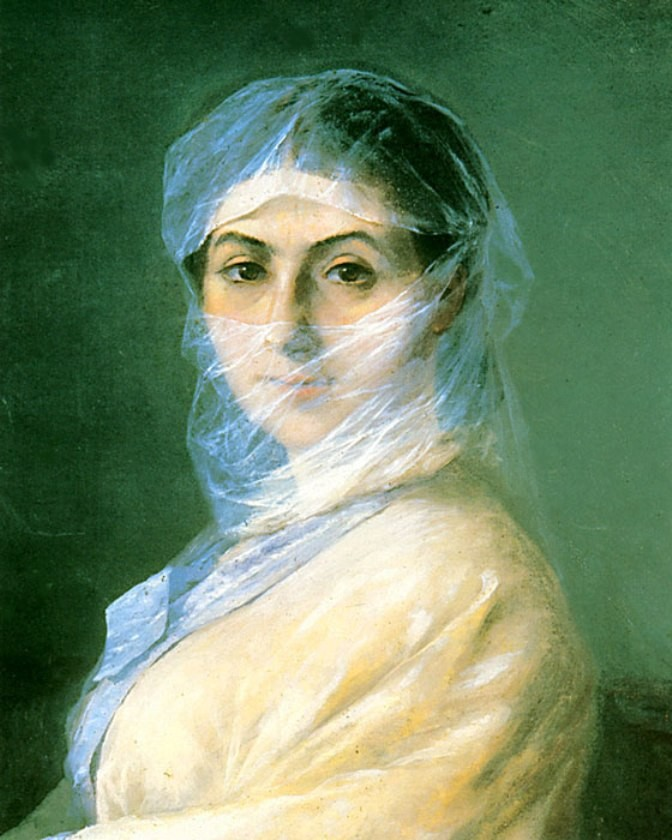Portrait Of The Artist's Wife by Ivan Konstantinovich Aivazovsky