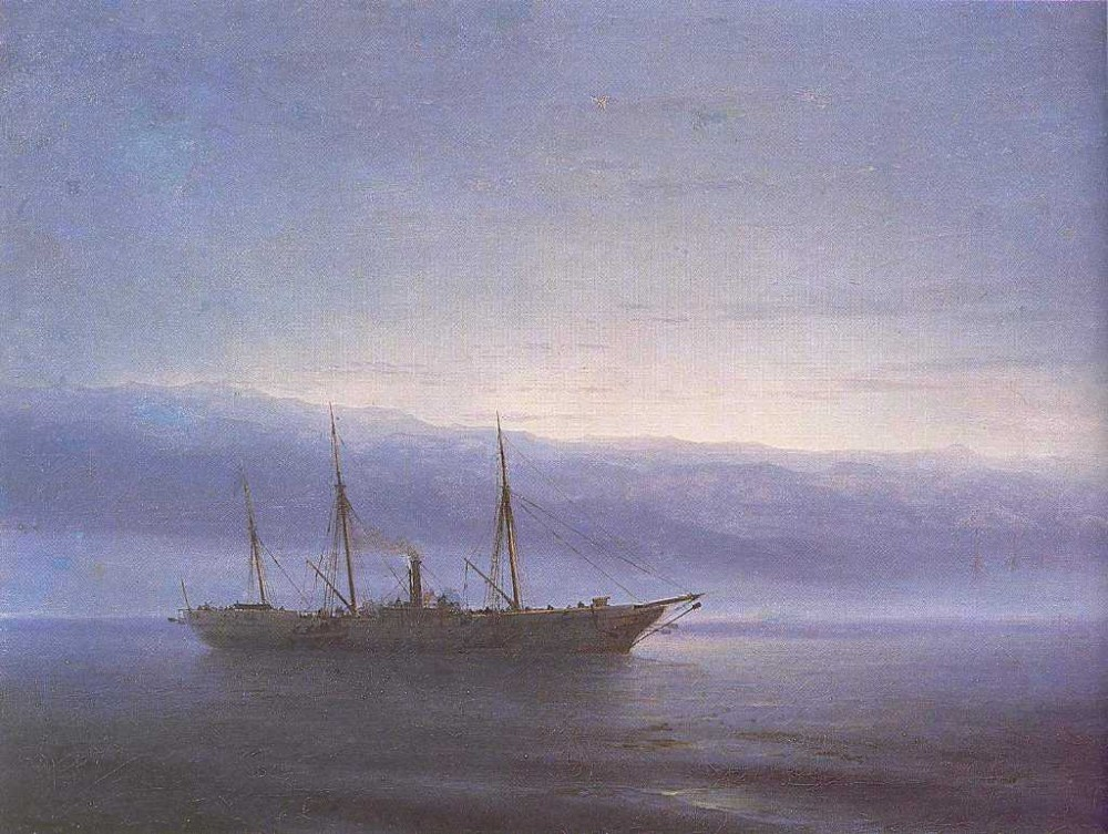 Before Battle, Ship Constantinople by Ivan Konstantinovich Aivazovsky