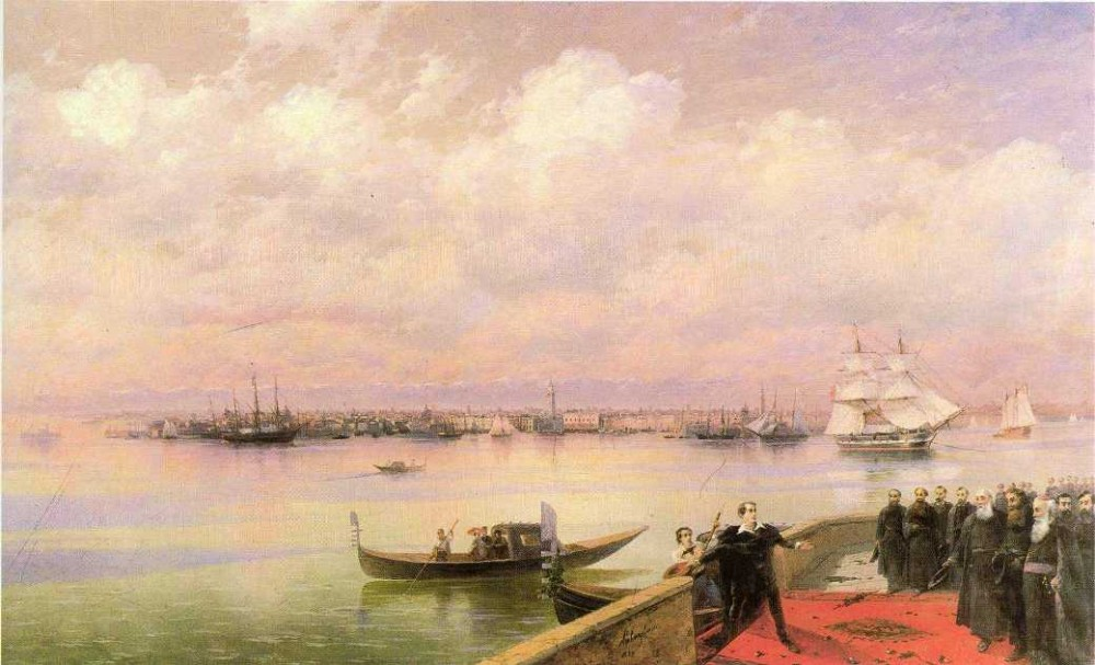 Byron Visiting Mhitarists On Island Of St Lazarus In Venice by Ivan Konstantinovich Aivazovsky