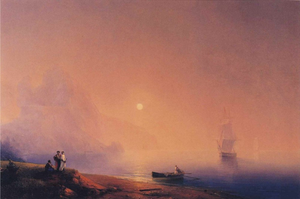 Crimean Tartars On The Sea Shore by Ivan Konstantinovich Aivazovsky