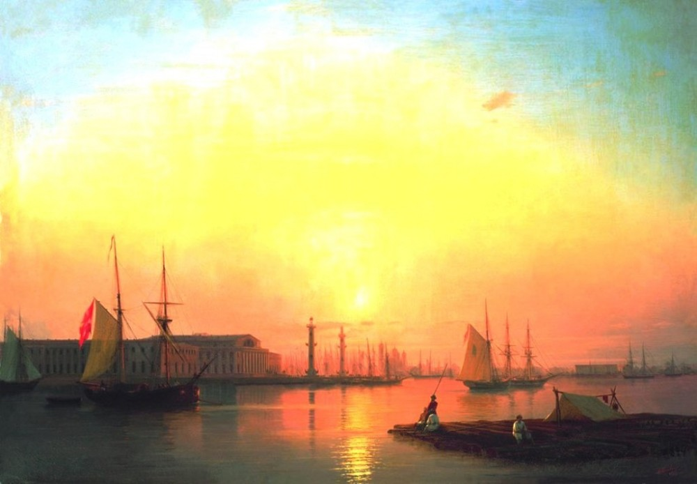 Exchange Of Peterburg by Ivan Konstantinovich Aivazovsky