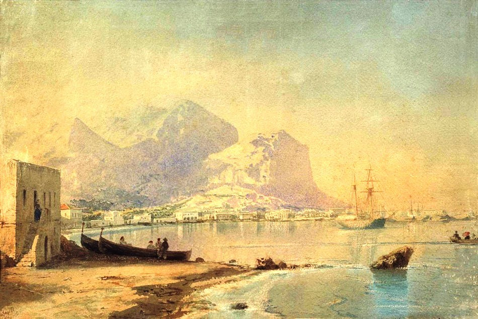In Harbour by Ivan Konstantinovich Aivazovsky