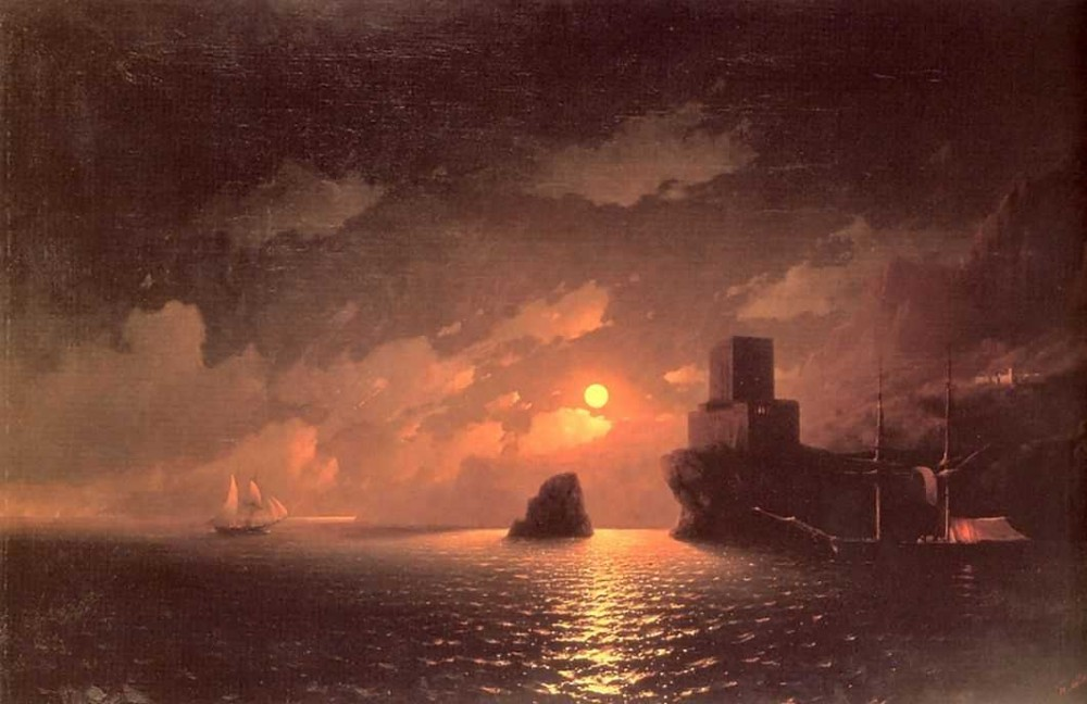 Moonlit Night by Ivan Konstantinovich Aivazovsky