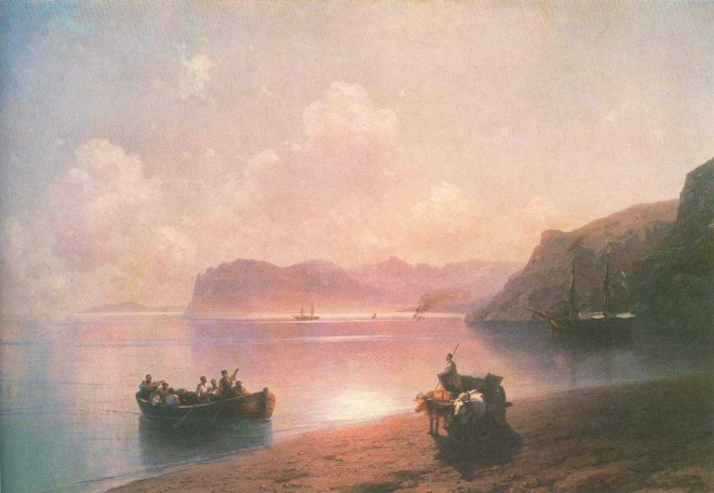 Morning On A Sea by Ivan Konstantinovich Aivazovsky