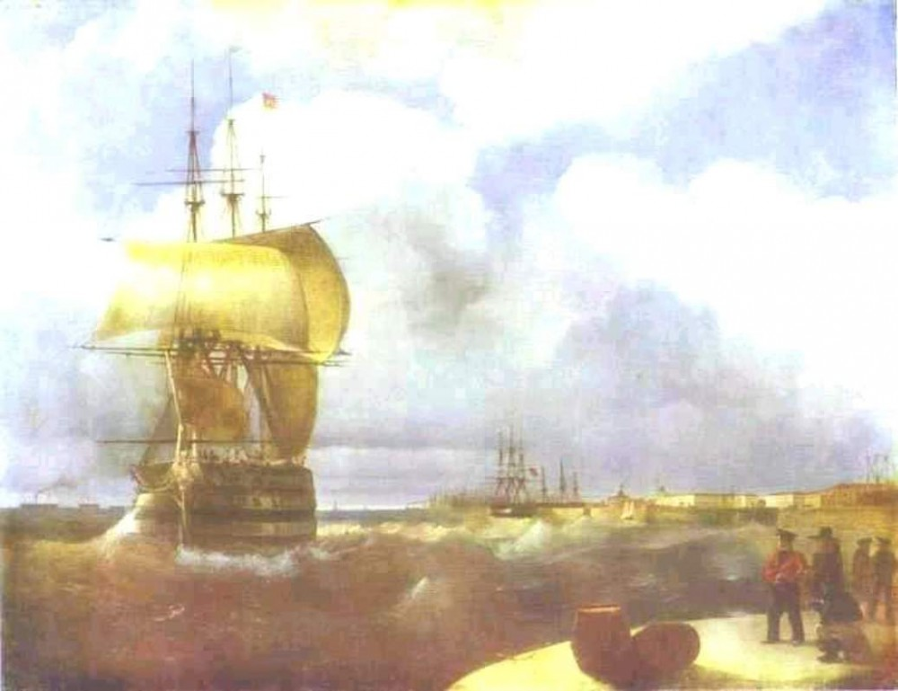 The Great Roads At Kronstadt by Ivan Konstantinovich Aivazovsky
