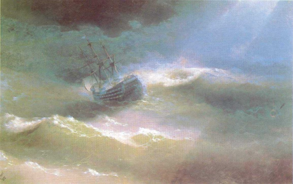 The Mary Caught In A Storm II by Ivan Konstantinovich Aivazovsky