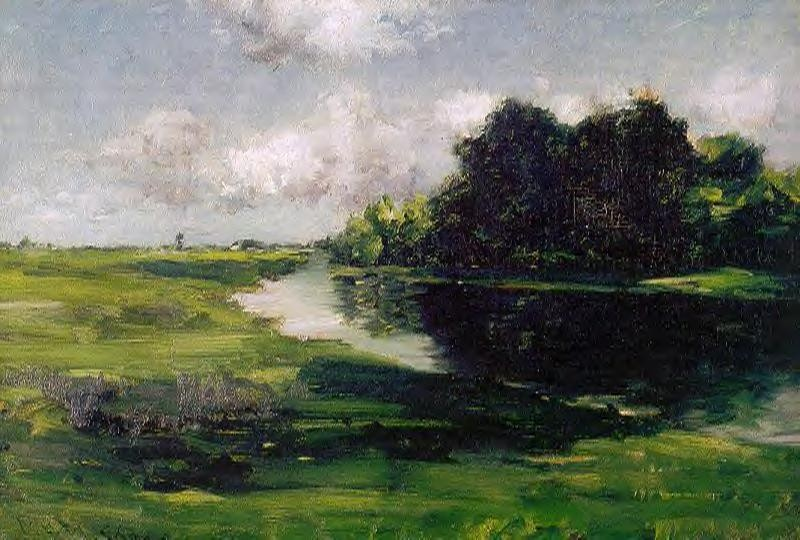 Long Island Landscape After A Shower of Rain by William Merritt Chase