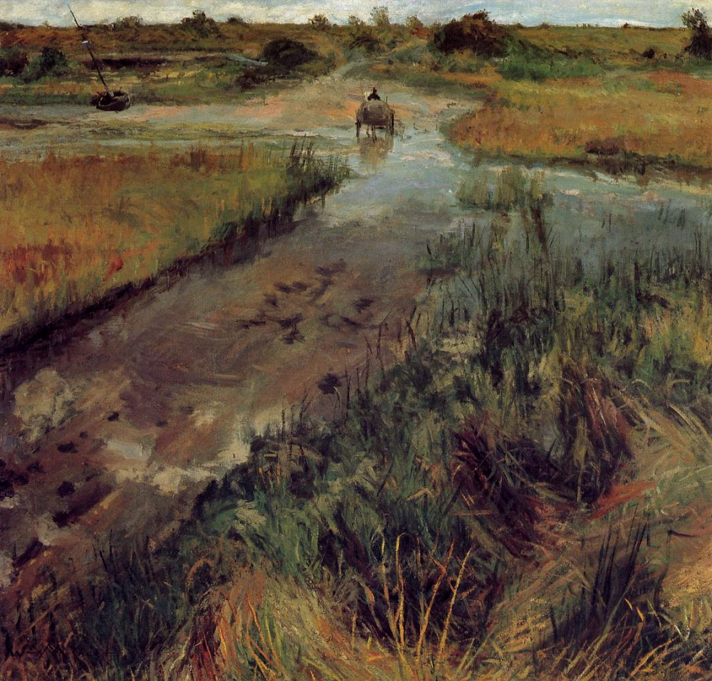 Swollen Stream at Shinnecock by William Merritt Chase