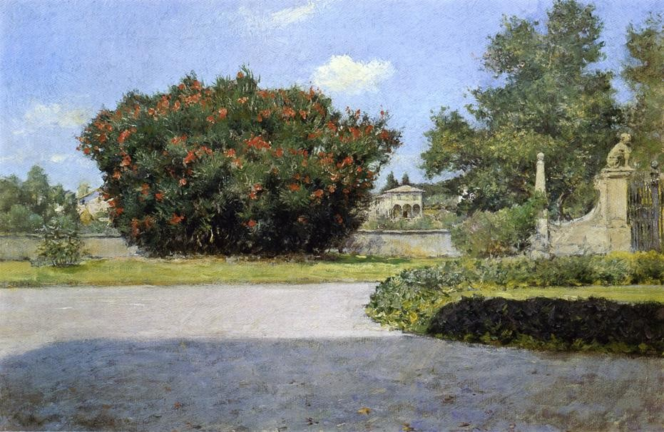 The Big Oleander by William Merritt Chase