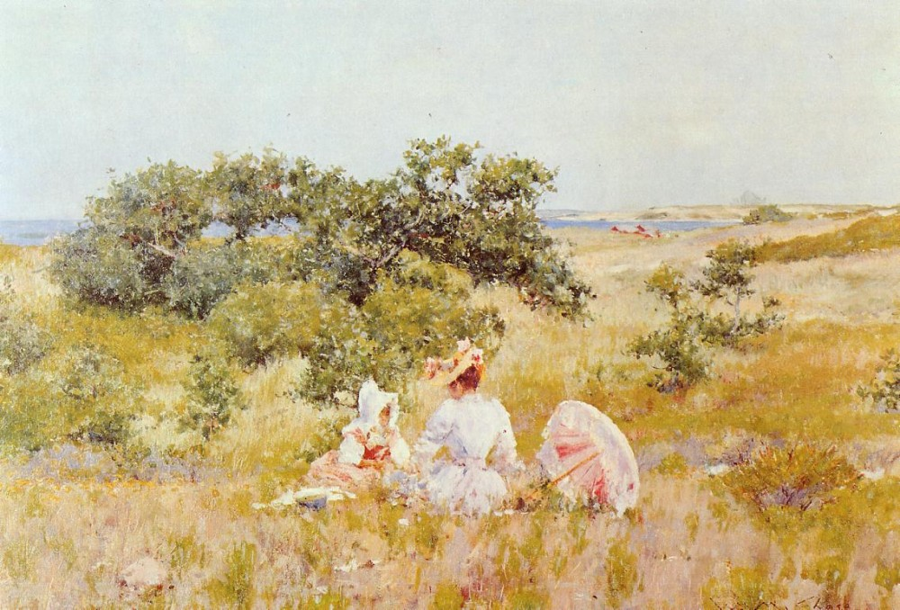 The Fairy Tale aka A Summer Day by William Merritt Chase