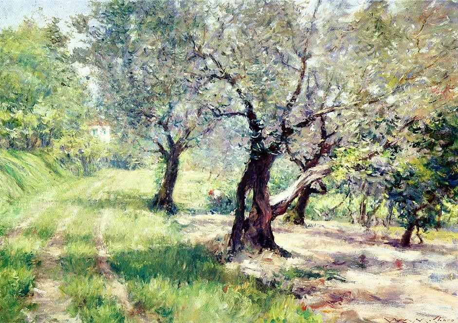 The Olivem Grove by William Merritt Chase