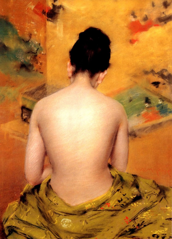 Back Of A Nude by William Merritt Chase