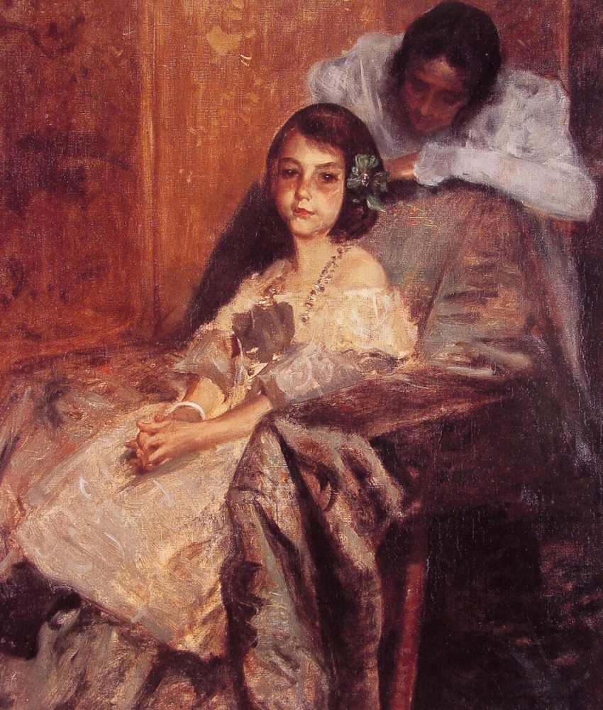 Dorothy and Her Sister 2 by William Merritt Chase