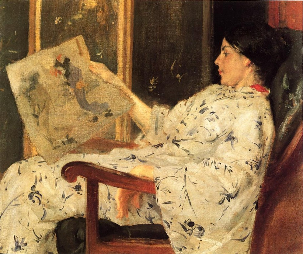 Japanese Print by William Merritt Chase