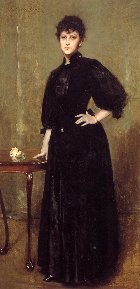 Lady in Black by William Merritt Chase