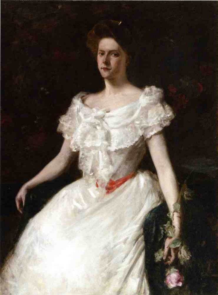 Lady with a Rose by William Merritt Chase