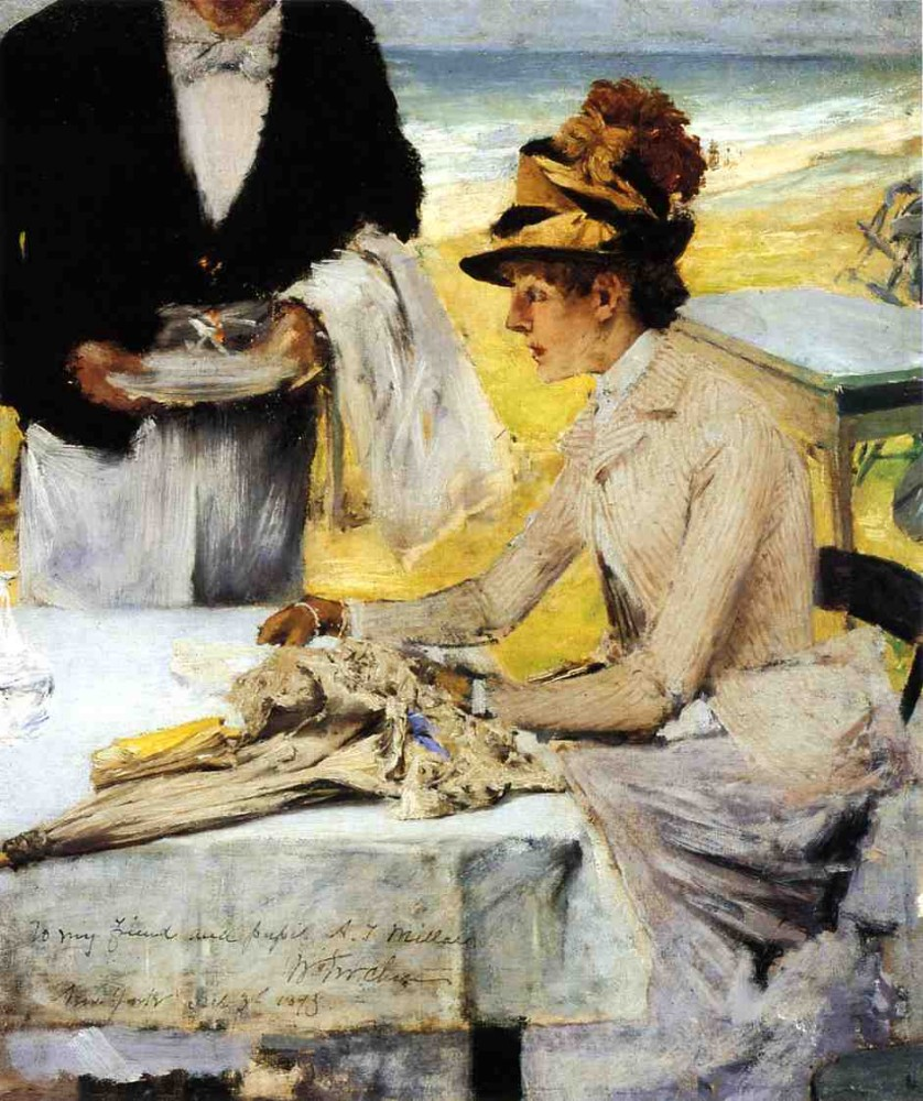 Ordering Lunch by the Seaside by William Merritt Chase