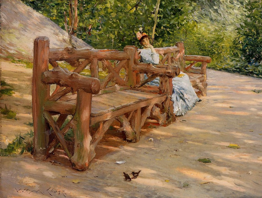 Park Bench by William Merritt Chase