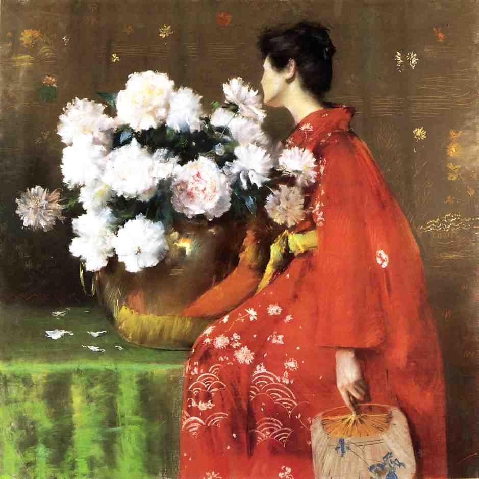 Peonies by William Merritt Chase