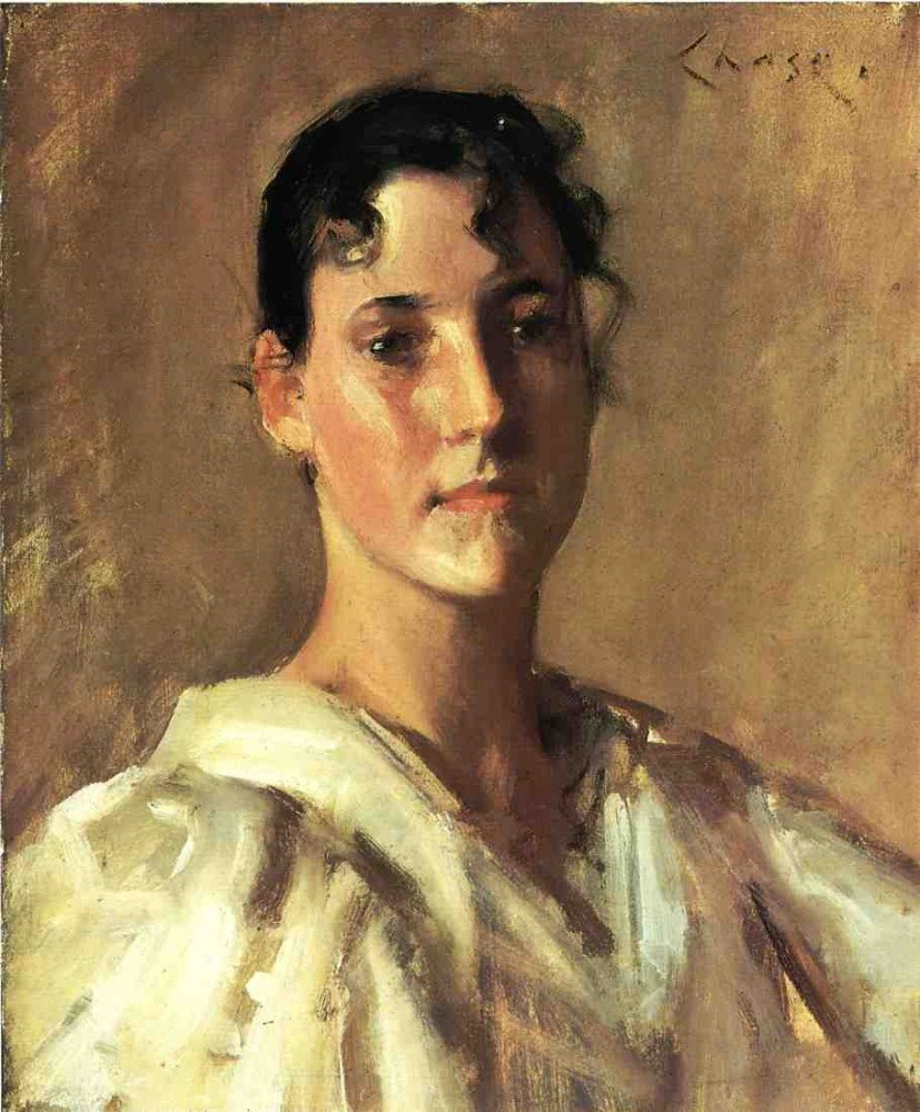 Portrait Of A Woman 2 by William Merritt Chase