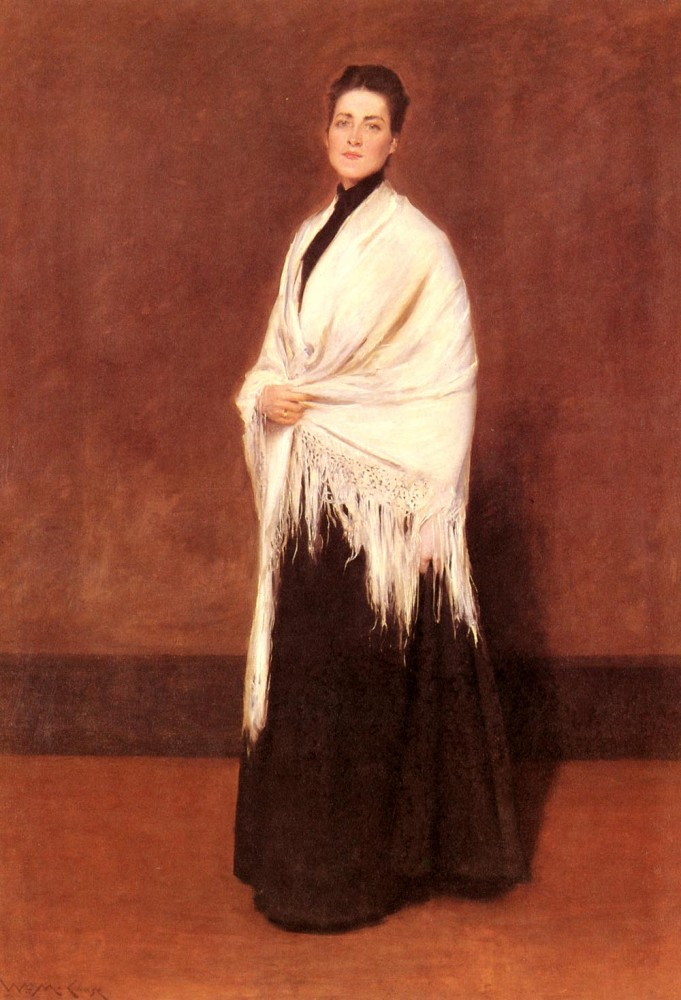 Portrait Of Mrs-C-SHAWL by William Merritt Chase