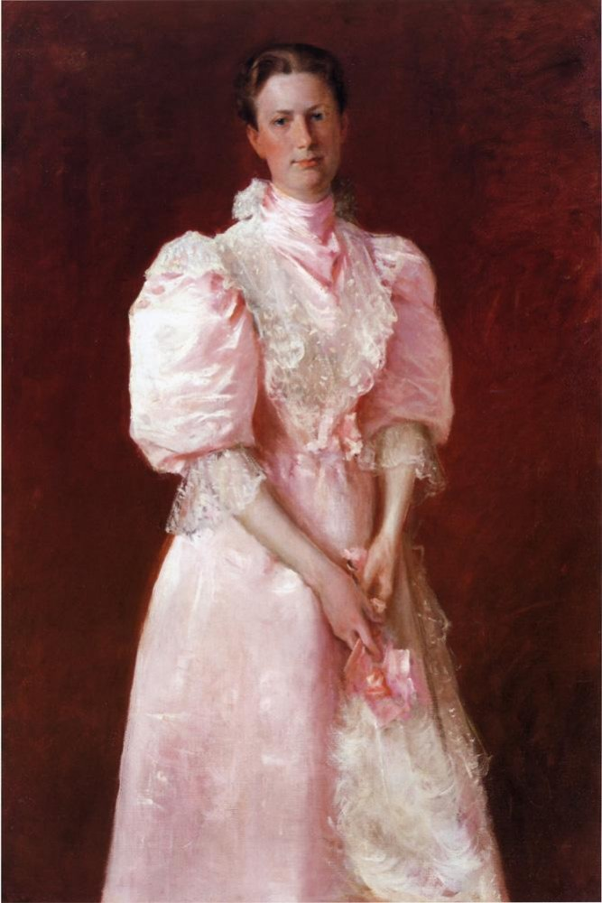 Study in Pink aka Portrait of Mrs. Robert P. McDougal by William Merritt Chase