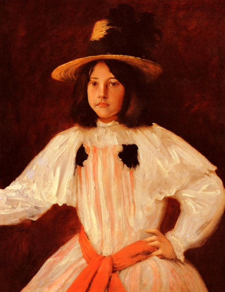 The Red Sash by William Merritt Chase
