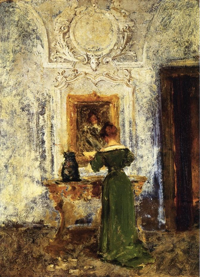 Woman in Green by William Merritt Chase