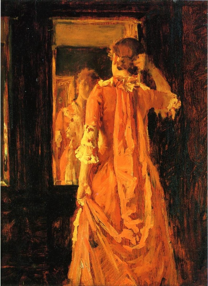 Young Woman Before a Mirror by William Merritt Chase