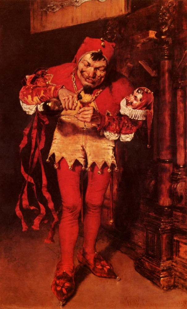 Keying Up-TheCourt Jester by William Merritt Chase