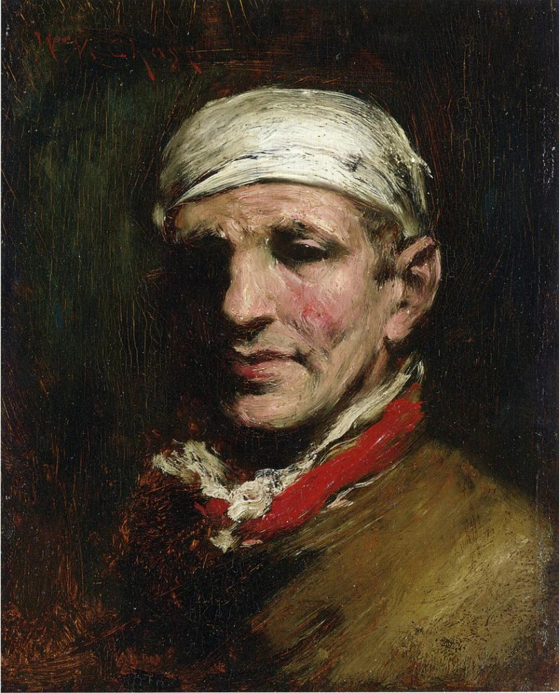 Man With Bandana by William Merritt Chase